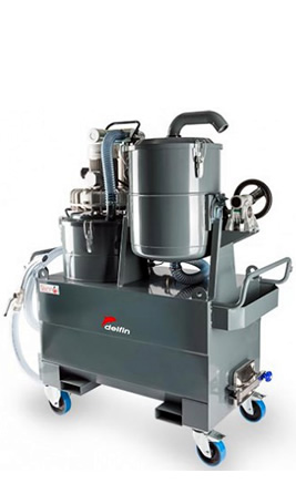 Delfin Industrial Vacuum for oil & chips recovery